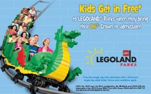 get free kids legoland